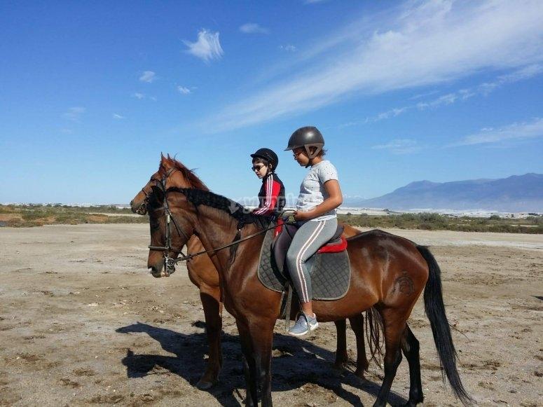 Paseo a caballo marismas Almería