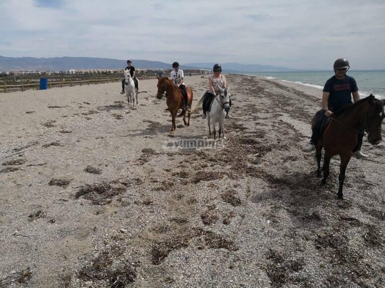 Ruta a caballo por la costa almeriense