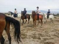 Excursión a caballo playa de Almería