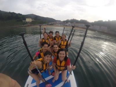 Giant Paddle Surf Activity Ondarroa Bay