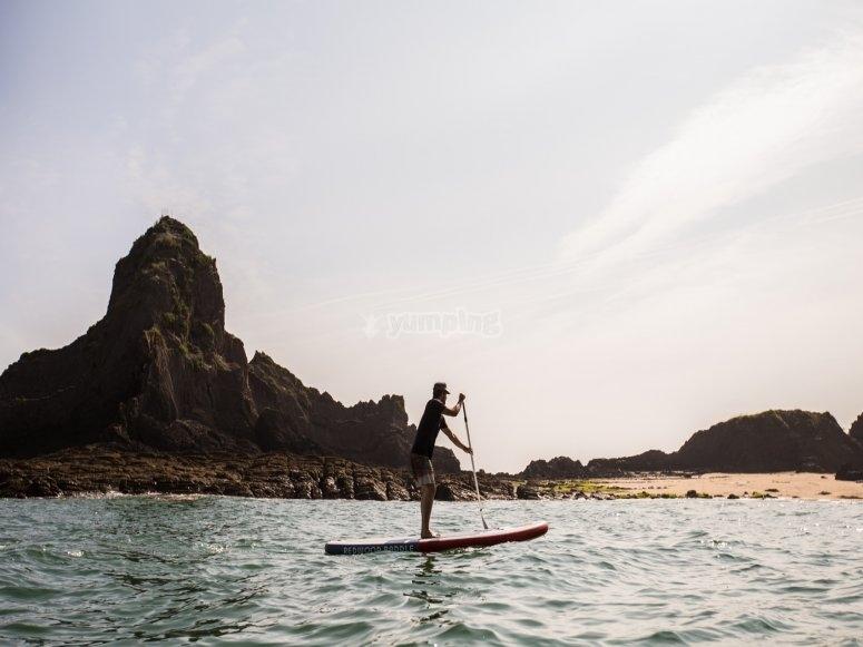 Rowing on Ondarroa beach