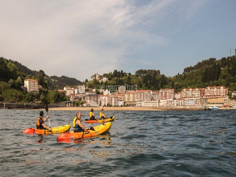 Paseo en kayak doble o individual Ondarroa