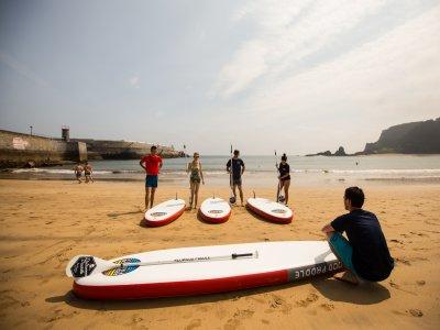 Initiation class paddle surfing 1h 30min Ondarroa