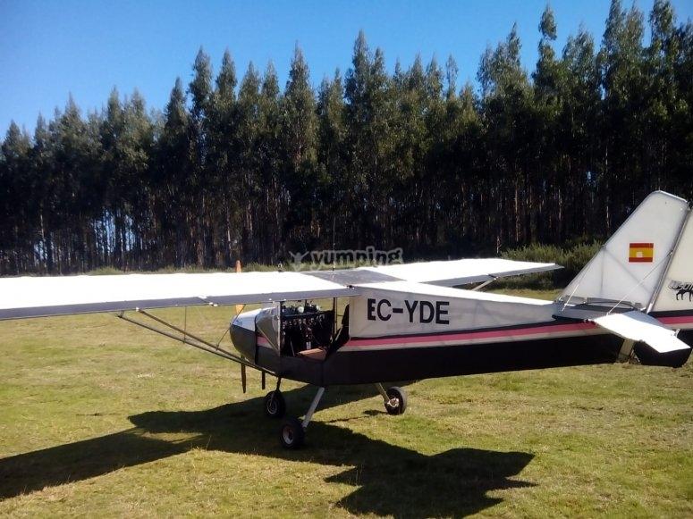 Airplane ride A Coruña