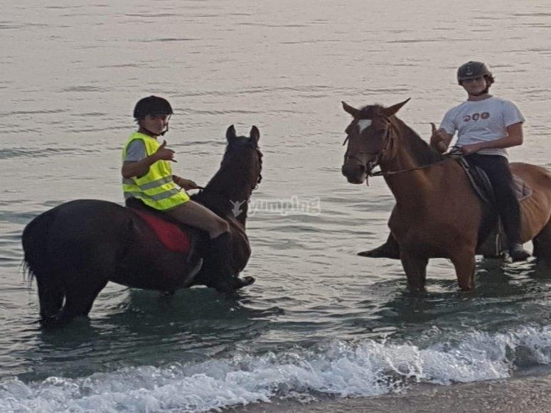 Ruta a caballo playa de Motril