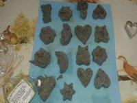 galletas de chocolate de formas