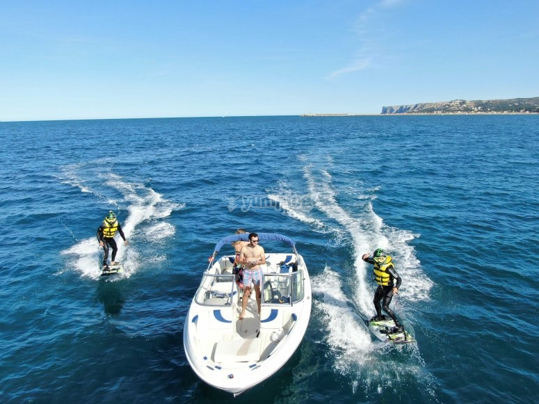 Pack jetsurf y paseo en barco Dénia