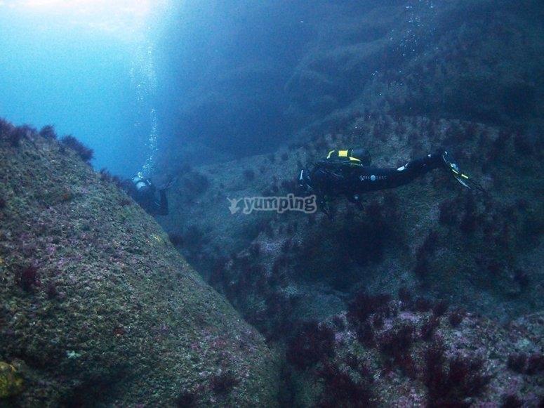 坎塔布里亚高级开放水域潜水员