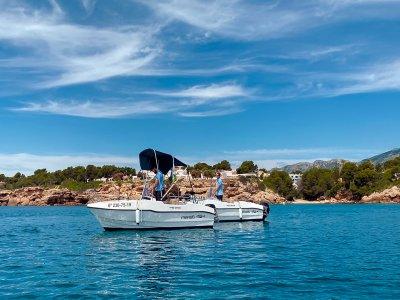 Alquiler barco sin titulación Temp Alta Calafat 4h