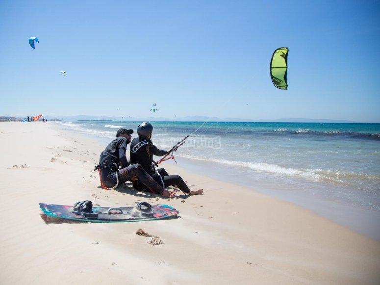 Curso kitesurf 2 horas Tarifa