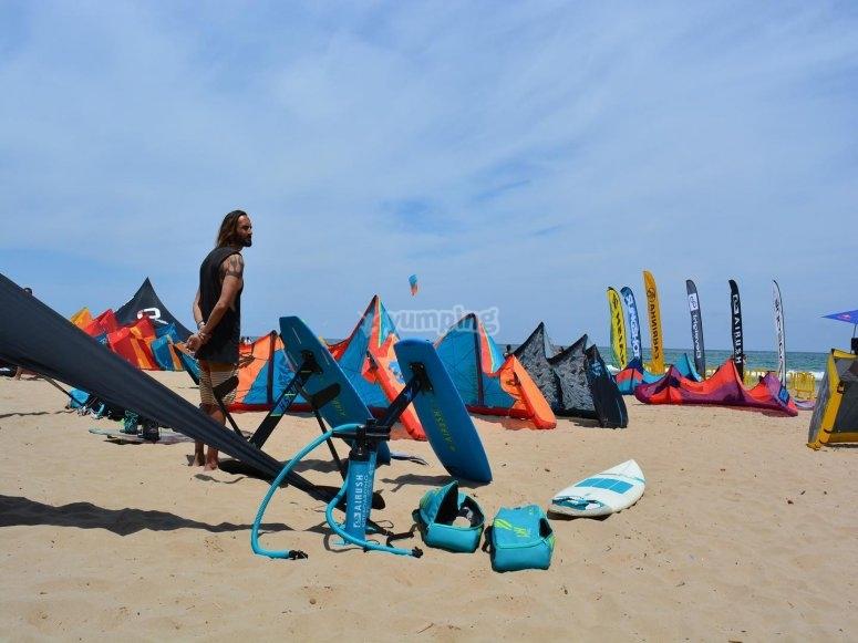 Practicar kitesurf en Tarifa 2 horas