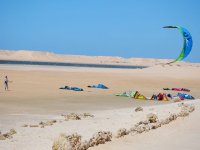 风筝在沙滩上