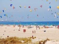 人群练习风筝冲浪