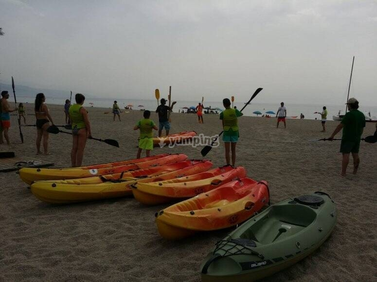 皮划艇入门班在Roquetas de Mar