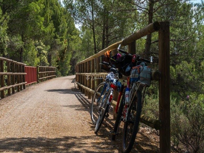 Vía Verde Val de Zafán ideal para rutas en bicicleta