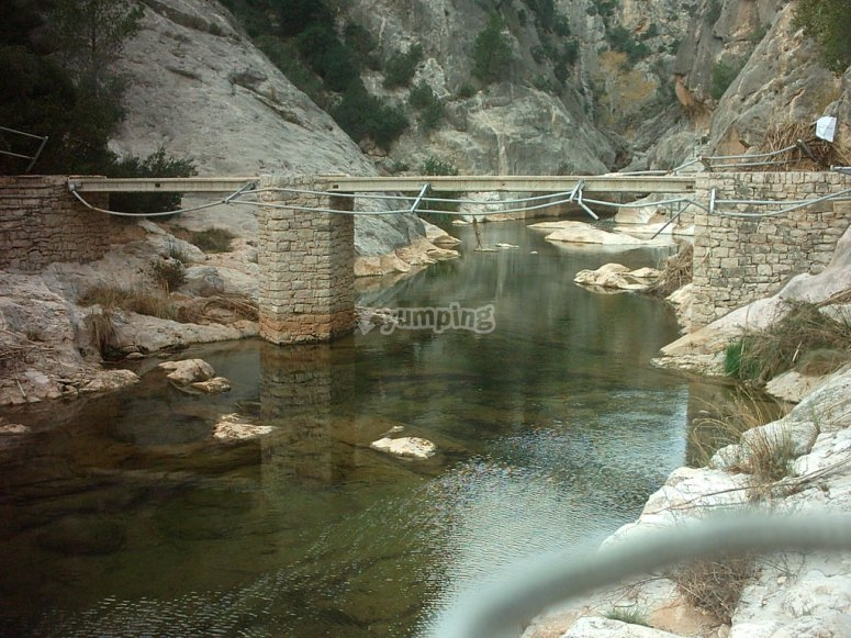 Spectacular couplers of Fontcalda to travel by bike