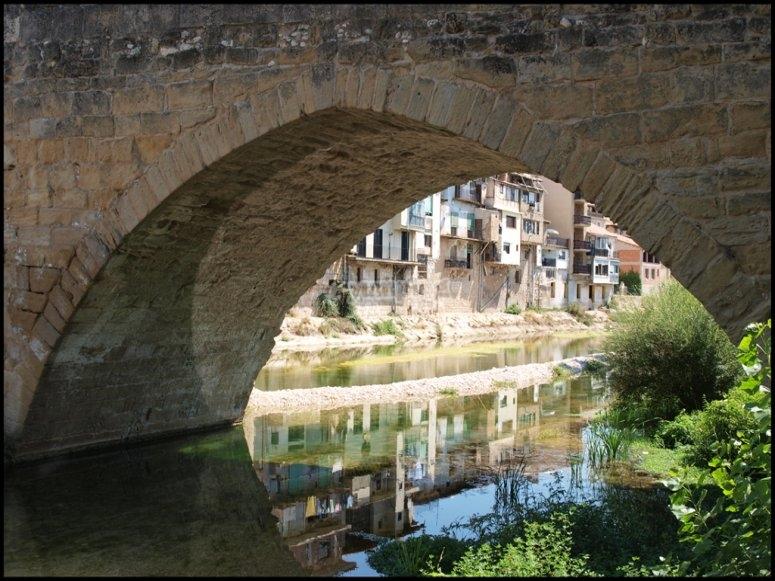The Matarraña river as it passes through Valderrobres