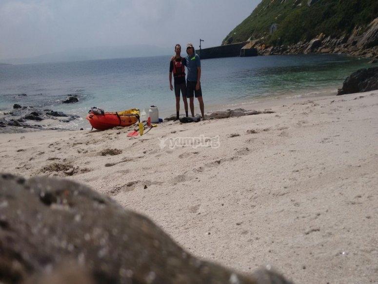 Kayak playa Costa da Morte