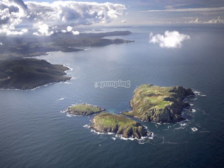 Las islas Sisargas en barco