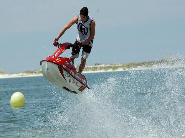 Jet ski en la Costa Brava
