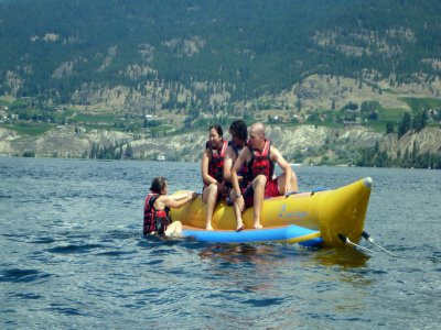 Banana boat for groups in Caión 20 minutes