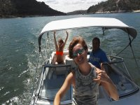 Paseo en barco en el pantano de San Juan