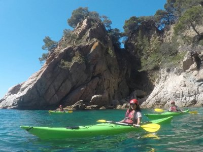 Kayak route and snorkel in Lloret de Mar 4 hours