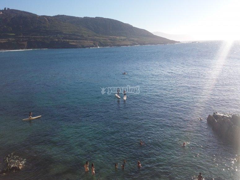 Paseo en paddle surf Caión