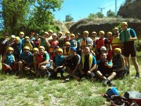 Grupo de rafting en Sacedon