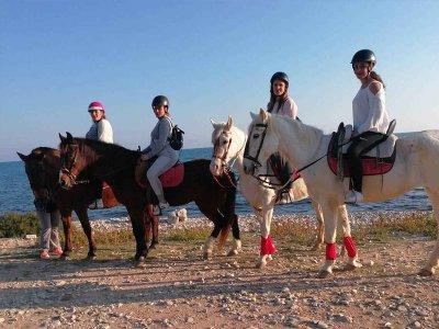 骑马和野餐3小时Villajoyosa