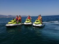 Our jet ski fleet ready for a route across the Costa Blanca