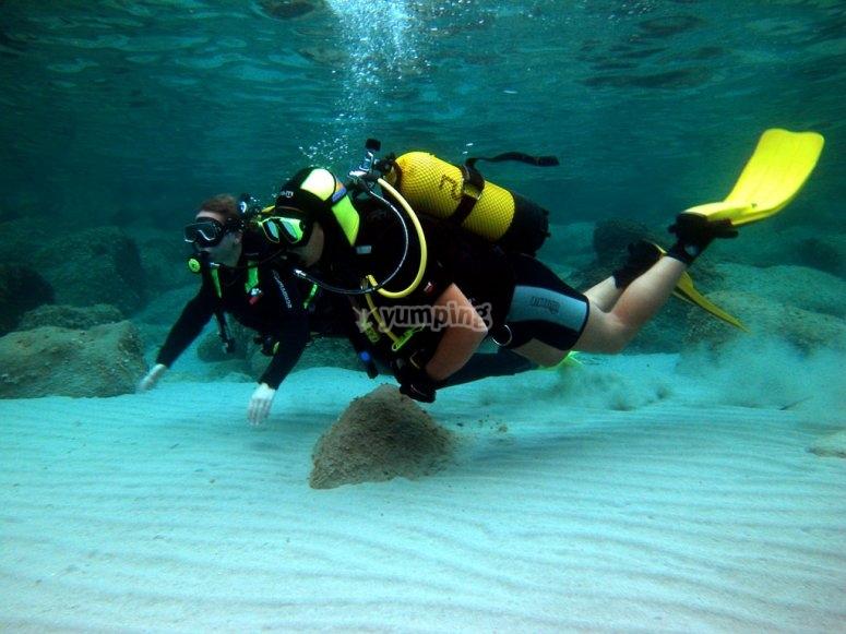 第一次在巴伦西亚潜水