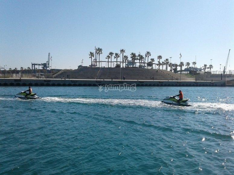 Circuito moto de agua en Gandía
