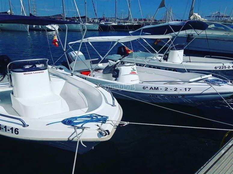 Alquila tu barco sin titulación en Valencia
