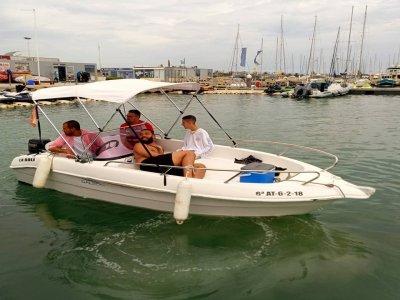 Alquiler barco sin licencia en Valencia 1 h
