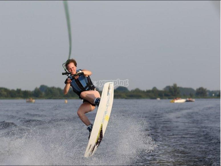 Wakeboarding a Santander