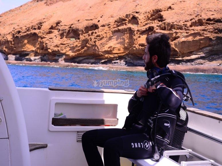 Buceo desde barco equipado Tenerife