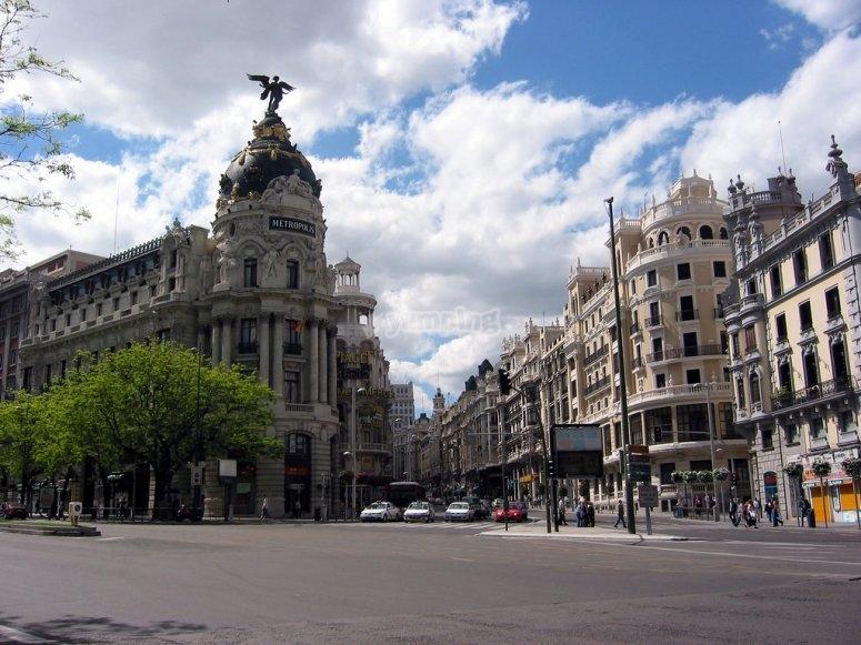 Sobrevolando Madrid en avioneta