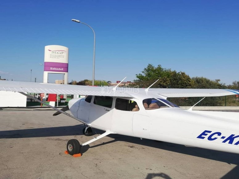 Flight practise 50 minutes in Sabadell