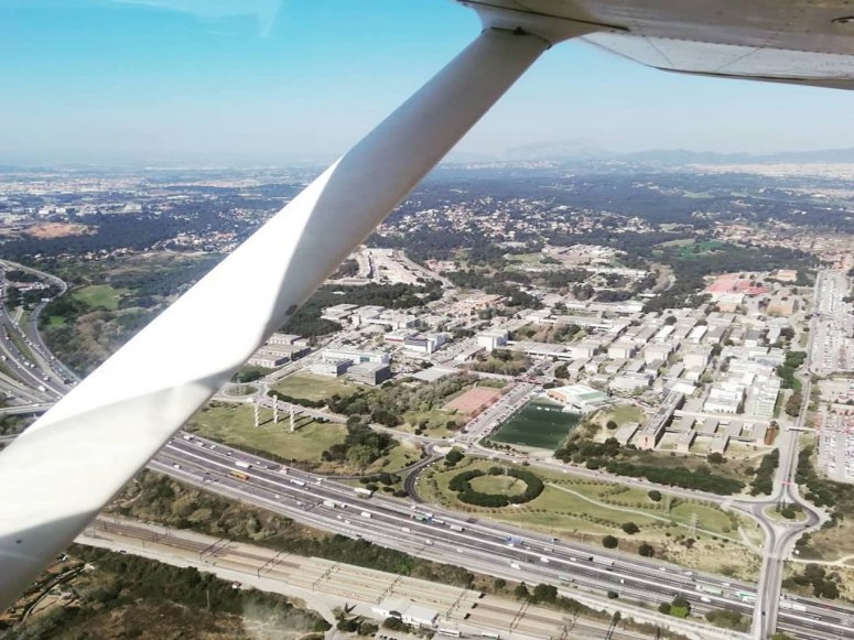 Panoramic from the light aircraft Barcelona