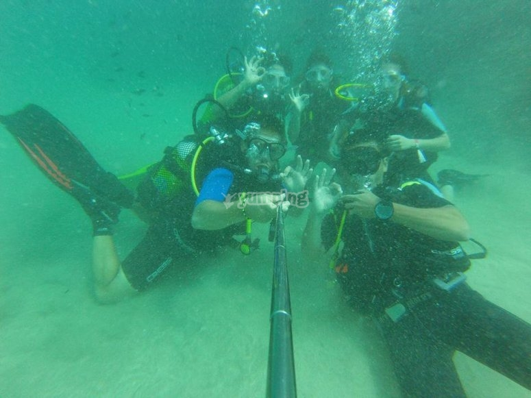 Alumnos del Open Water Diver