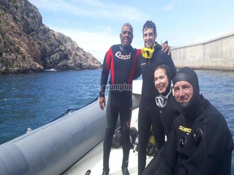 Inmersiones desde el barco