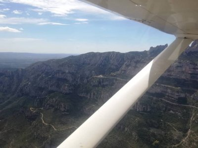 Romantic light aircraft flight Barcelona 1h 20 min
