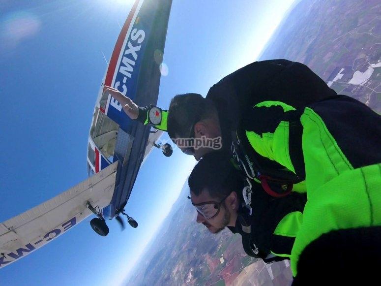 Saltando en paracaídas en Cádiz