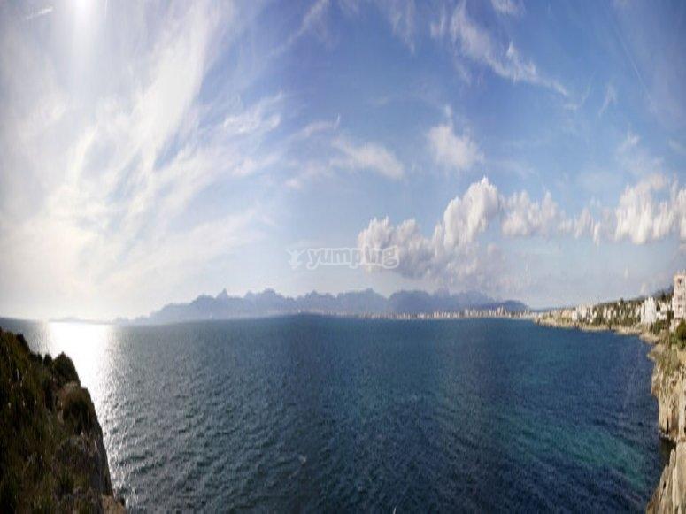 Panorámica de la costa Palma de Mallorca