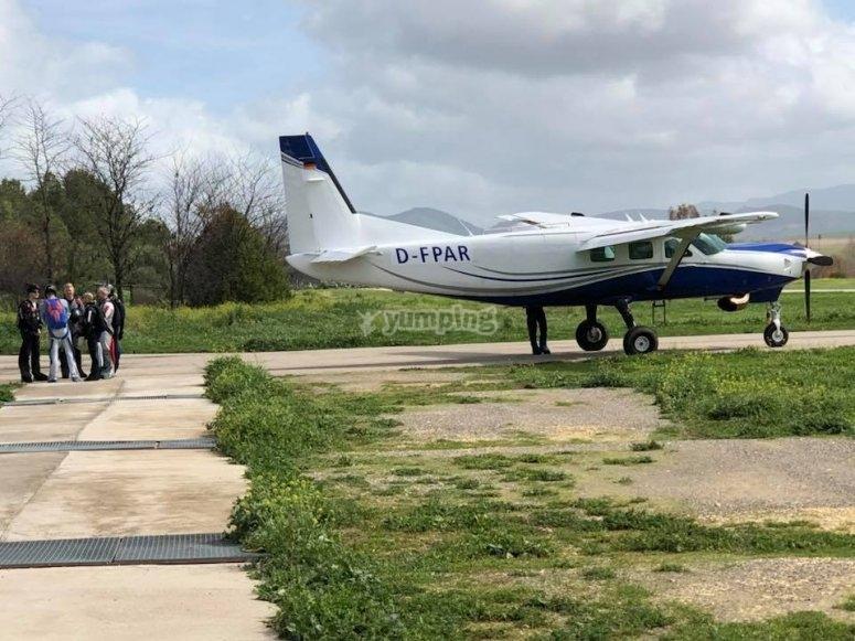 Vistas del aeródromo de Villamartín