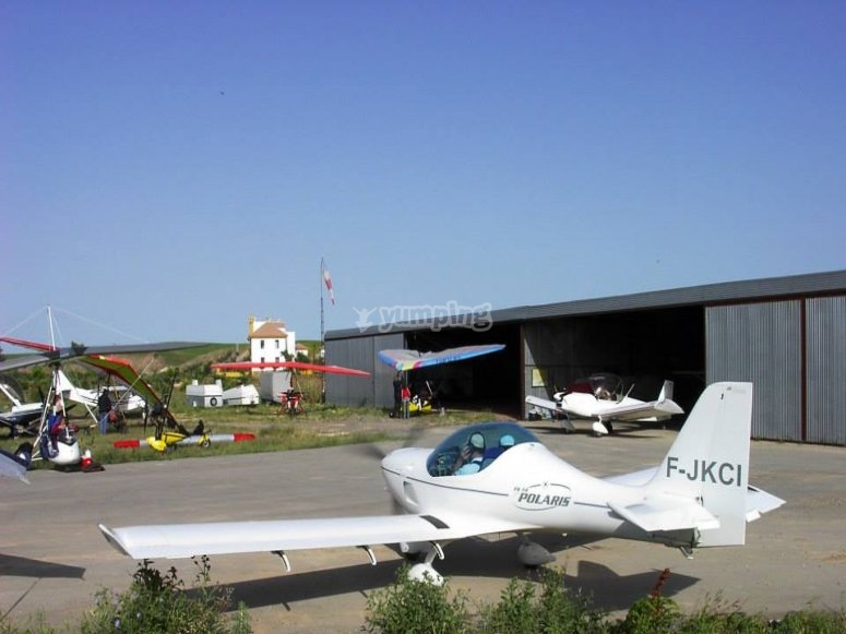The plane that will ascend to the heights of Villamartín