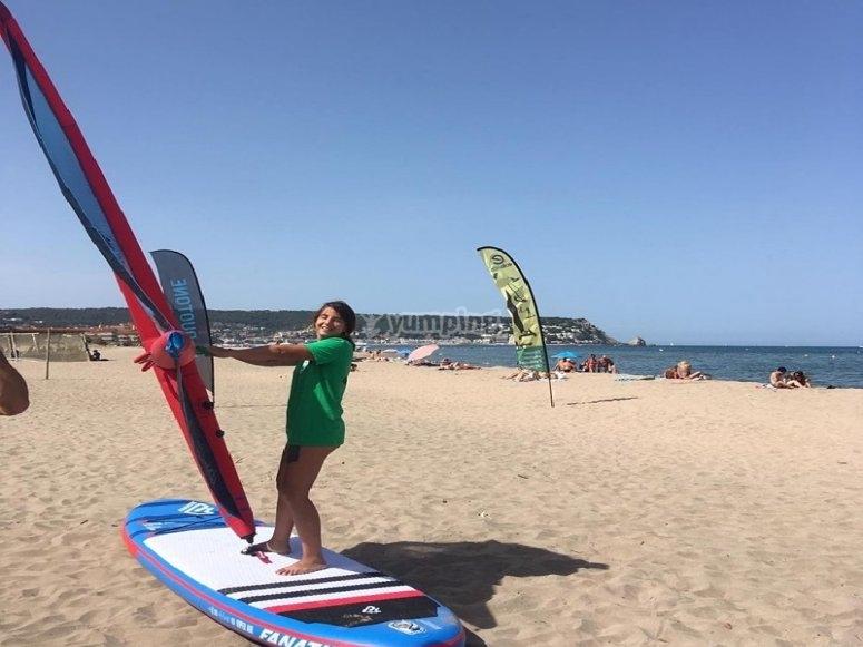 3课帆板课程La Pletera海滩