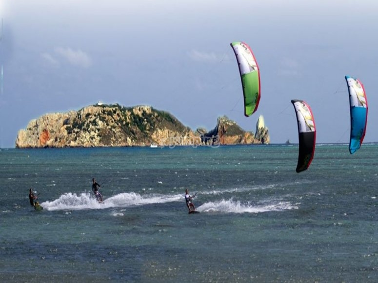 Windsurfing with friends in Estartit