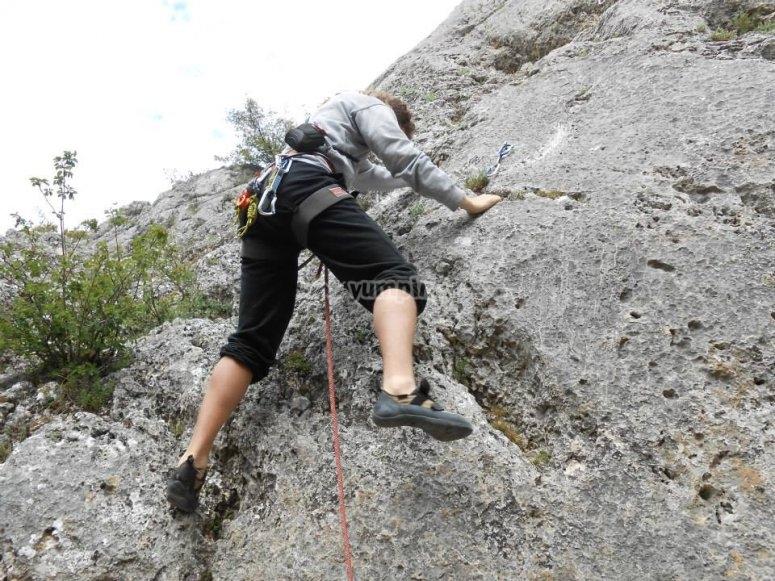 Giornata di arrampicata attraverso Burgos